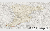 Shaded Relief Panoramic Map of Jinghong, lighten