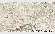 Shaded Relief Panoramic Map of Jinghong