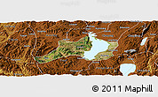 Satellite Panoramic Map of Jinning, physical outside