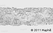 Silver Style Panoramic Map of Jinping