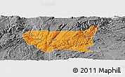Political Panoramic Map of Kaiyuan Shi, desaturated
