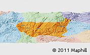 Political Panoramic Map of Kaiyuan Shi, lighten