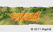 Political Panoramic Map of Kaiyuan Shi, satellite outside