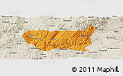 Political Panoramic Map of Kaiyuan Shi, shaded relief outside