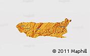 Political Panoramic Map of Kaiyuan Shi, single color outside