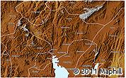 Physical 3D Map of Kuenming Shiqu