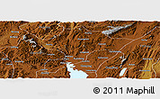 Physical Panoramic Map of Kuenming Shiqu