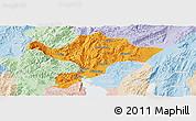 Political Panoramic Map of Kuenming Shiqu, lighten