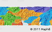 Political Panoramic Map of Kuenming Shiqu