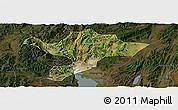Satellite Panoramic Map of Kuenming Shiqu, darken