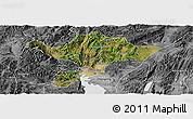 Satellite Panoramic Map of Kuenming Shiqu, desaturated
