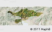 Satellite Panoramic Map of Kuenming Shiqu, lighten