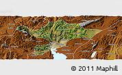 Satellite Panoramic Map of Kuenming Shiqu, physical outside