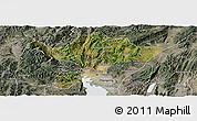 Satellite Panoramic Map of Kuenming Shiqu, semi-desaturated