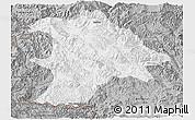 Gray Panoramic Map of Lancang
