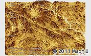Physical Panoramic Map of Lancang