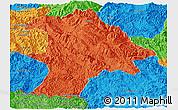 Political Panoramic Map of Lancang