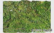 Satellite Panoramic Map of Lancang
