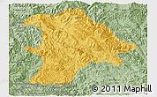 Savanna Style Panoramic Map of Lancang