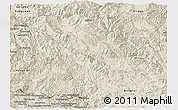 Shaded Relief Panoramic Map of Lancang