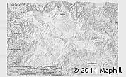 Silver Style Panoramic Map of Lancang