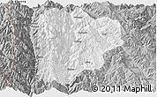 Gray Panoramic Map of Lanping