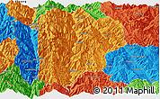 Political Panoramic Map of Lanping