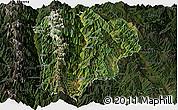 Satellite Panoramic Map of Lanping, darken