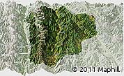 Satellite Panoramic Map of Lanping, lighten