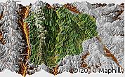 Satellite Panoramic Map of Lanping, physical outside