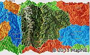 Satellite Panoramic Map of Lanping, political outside