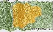 Savanna Style Panoramic Map of Lanping