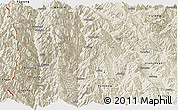 Shaded Relief Panoramic Map of Lanping