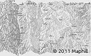 Silver Style Panoramic Map of Lanping
