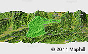 Political Panoramic Map of Lianghe, satellite outside