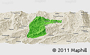 Political Panoramic Map of Lianghe, shaded relief outside