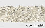 Shaded Relief Panoramic Map of Lianghe