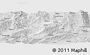 Silver Style Panoramic Map of Lianghe