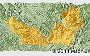 Savanna Style Panoramic Map of Lijiang
