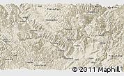Shaded Relief Panoramic Map of Lijiang
