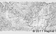 Silver Style Panoramic Map of Lijiang