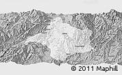 Gray Panoramic Map of Lincang