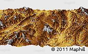 Physical Panoramic Map of Lincang