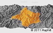 Political Panoramic Map of Lincang, desaturated