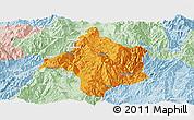 Political Panoramic Map of Lincang, lighten