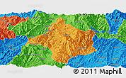 Political Panoramic Map of Lincang