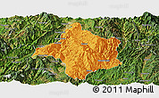 Political Panoramic Map of Lincang, satellite outside