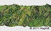 Satellite Panoramic Map of Lincang