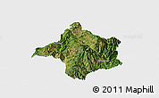 Satellite Panoramic Map of Lincang, single color outside