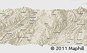 Shaded Relief Panoramic Map of Lincang